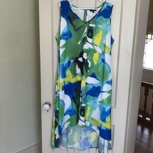 NWT Premise Green Blue Floral Plus Size Maxi Dress